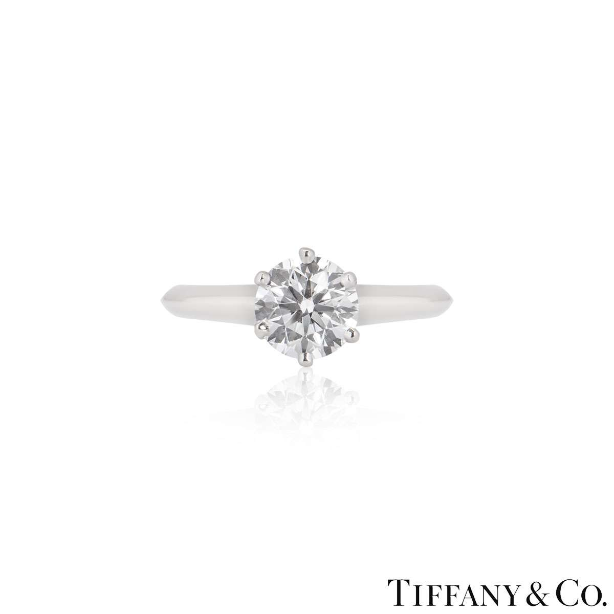 Tiffany & Co. Round Brilliant Cut Diamond Ring 1.01ct E/VS1